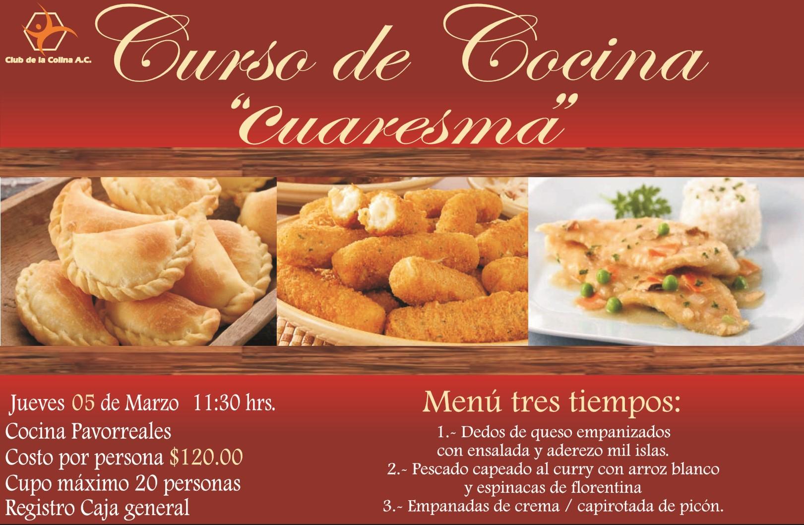Curso de cocina cuaresma club de la colina - Cursos de cocina sabadell ...